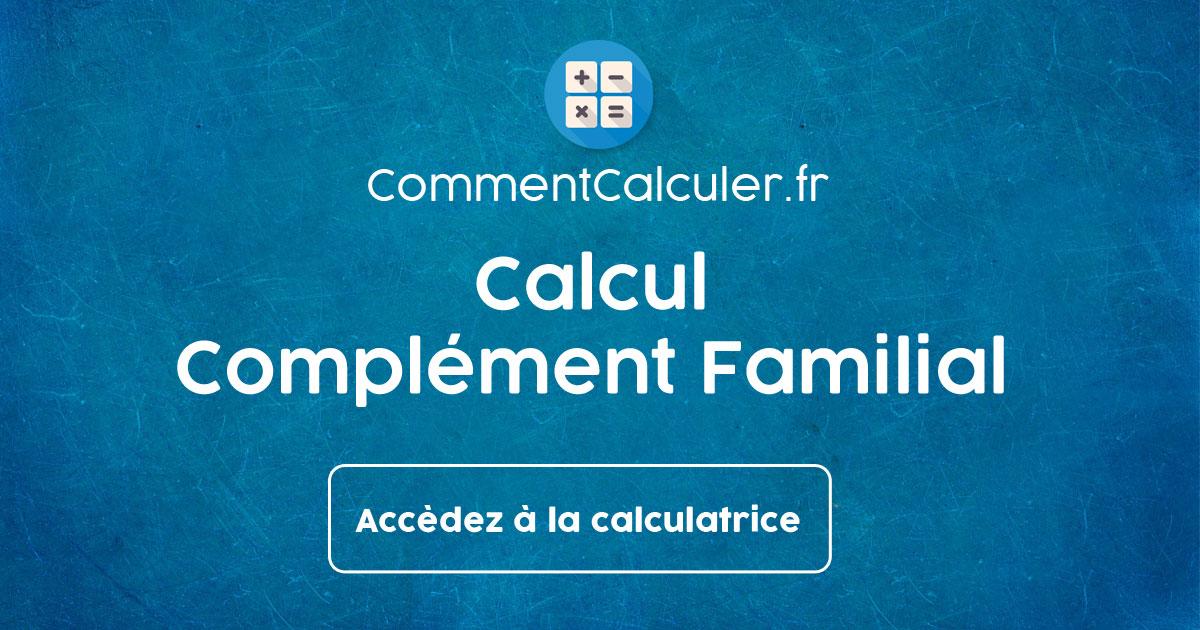 Calcul Complement Familial Differentiel Caisse Allocations Familiales