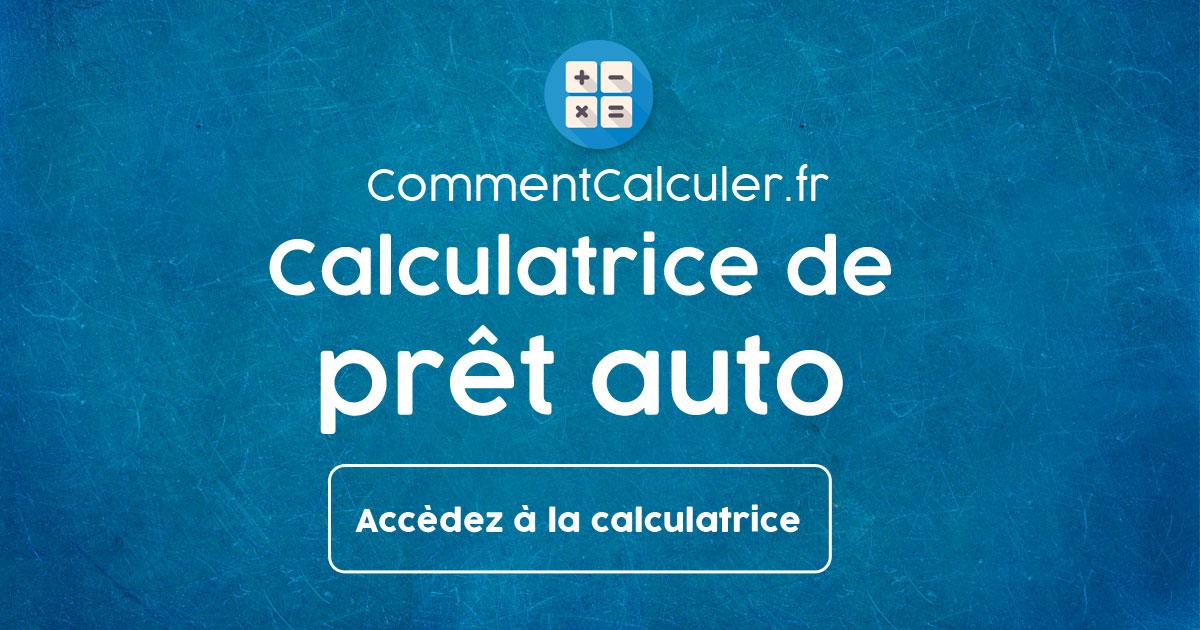 Calcul Financement Auto >> Calculatrice De Pret Auto Simulation Credit Automobile